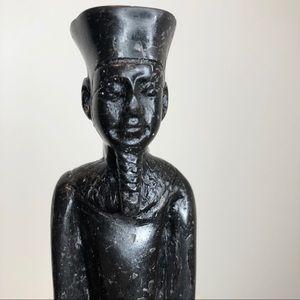 Blackstone carving of Egyptian god Amun